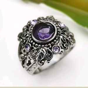 Jewelry - New amethyst cz 925 silver ring